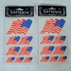 AMERICAN FLAG TATTOO'S WAVY (Sold by the dozen) -* CLOSEOUT ONLY 25 CENTS EA