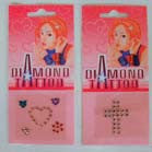 STICK ON DIAMOND JEWEL TATTOO'S (Sold by the dozen) -* CLOSEOUT ONLY 25 CENTS EA