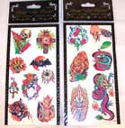 LARGE ASSORTED TEMPORARY BODY TATTOO'S (Sold by the dozen) -* CLOSEOUT ONLY 25 CENETS EA