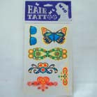 HAIR TATTOO'S WITH GLITTER (Sold by the dozen) -* CLOSEOUT ONLY 10 CENTS EA