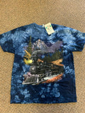 BACK TO EARTH TIE DYE TRAIN TEE SHIRT SIZE MEDIUM ( sold by the piece)
