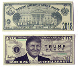 DONALD TRUMP 2018 PENCE DOLLAR FAKE MONEY BILL (Sold by the pad of 25 bills )