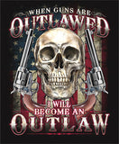 2nd AMENDMENT OUTLAW SHORT SLEEVE TEE SHIRT (Sold by the piece) *- CLOSEOUT AS LOW AS $ 2.95 EA
