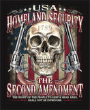2nd AMENDMENT SECURITY BLACK SHORT SLEEVE TEE SHIRT (Sold by the piece)