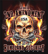 2nd AMENDMENT USA  BLACK SHORT SLEEVE TEE SHIRT (Sold by the piece)