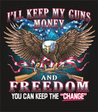 2nd AMENDMENT CHANGE  SHORT SLEEVE TEE SHIRT (Sold by the piece) CLOSEOUT M ONLY $3.50 EA