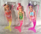 MERMAID 8 INCH DOLLS (sold by the dozen )