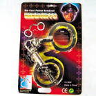 DIE CAST POLICE HANDCUFFS (Sold by the dozen)  -* CLOSEOUT NOW ONLY $1.50 EA