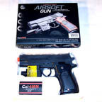 AIRSOFT SM 7 INCH HAND PISTOL GUN WITH LASER POINTER (Sold by the piece) * CLOSEOUT 4.50 EA