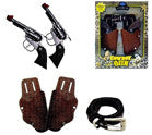 DIE CAST TWIN COWBOY PISTOL WESTERN GUN SET (Sold by the piece)