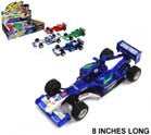 LARGE FORMULA DIE CAST METAL 8 INCH RACING CARS (Sold by the display of 4 pieces ) CLOSEOUT $2.50 EA