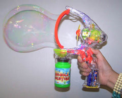JUMBO BUBBLE MAKER GUN (Sold by the piece)  -* CLOSEOUT NOW ONLY $3.50 EA