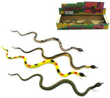 24 INCH RUBBER SNAKES (Sold by the dozen)