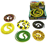 55 INCH RUBBER SNAKES (Sold by the piece) *- CLOSEOUT NOW ONLY $2 EA