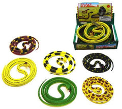 55 INCH RUBBER SNAKES (Sold by the piece)