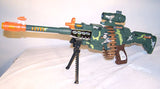 LIGHT UP MACHINE GUN WITH SOUND AND MOVING BULLETS (Sold by the piece)