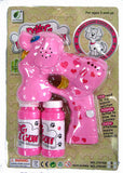 LIGHT UP DOGGY BUBBLE GUN WITH SOUND (sold by the piece )