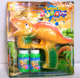 LIGHT UP DINOSAUR BUBBLE GUN WITH SOUND (sold by the piece )
