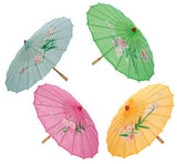 ASST COLOR 34 IN WOODEN UMBRELLA PARASOLS  (Sold by the piece or dozen) CLOSEOUT $ 2 EA