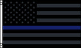 AMERICAN BLACKOUT BLUE THIN LINE police  3 X 5 FLAG ( sold by the piece )