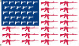 AMERICAN GUNS 2ND AMENDMENT  3 X 5 FLAG ( sold by the piece )