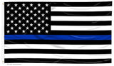 2 X 3 AMERICAN BLACK WHITE BLUE THIN LINE police FLAG ( sold by the piece )
