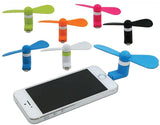 ANDROID / IPHONE MINI CELL PHONE FAN ( sold by the dozen or display ) -* CLOSEOUT ONLY $ 1.00 EA