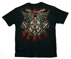 VooDoo magic APOCALYPSE SKULL DAGGERS TEE SHIRT ( sold by the piece )