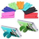SILICONE CREDIT CARD WALLET CELL PHONE STAND ( sold by the piece or dozen ) -* CLOSEOUT NOW ONLY 1.00 EACH