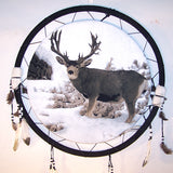 BUCK DEER JUMBO 24 INCH WAR SHIELD DREAM CATCHER (Sold by the piece) -* CLOSEOUT NOW ONLY $5 EA