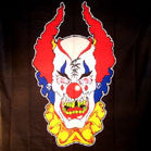 CRAZY CLOWN CLOTH  45 INCH  WALL BANNER / FLAG  (Sold by the piece) -* CLOSEOUT $1.95 EA