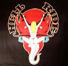 HELL RIDE DEVIL CLOTH 45 IN WALL BANNER  (Sold by the piece) -* CLOSEOUT $2.50 EA