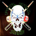 POLL HALL JUNKIE SKULL CLOTH 45 INCH WALL BANNER (Sold by the piece) -* CLOSEOUT $2.50  EA