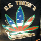 LARGE U.S. TOKER'S POT LEAF 45 INCH WALL BANNER  (Sold by the piece) -* CLOSEOUT $2.50 EA