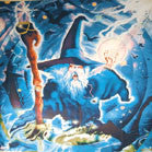 LARGE WIZARD SPELL 45 INCH CLOTH WALL BANNER  (Sold by the piece) -* CLOSEOUT $2.50 EA