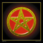 PENTAGRAM COLORED CLOTH 45 IN WALL BANNER (Sold by the piece) -* CLOSEOUT $1.95 EA