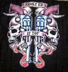 SMOKE EM IF YOU GOT EM CLOTH 45 IN WALL BANNER  (Sold by the piece) -* CLOSEOUT ONLY 2.50 EA