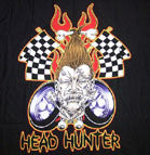 HEAD HUNTER COLORED 45 INCH WALL BANNER / FLAG  (Sold by the piece) -* CLOSEOUT ONLY 1.95 EA