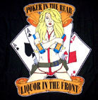LIQUOR UP FRONT POKER IN THE REAR WALL BANNER (Sold by the piece)
