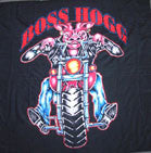 BOSS HOG PIG ON MOTORCYCLE 45 INCH WALL BANNER / FLAG  (Sold by the piece)-* CLOSEOUT ONLY 2.95 EA
