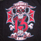 LUCKY 13 INC COLORED CLOTH 45 INCH  WALL BANNER  (Sold by the piece) -* CLOSEOUT ONLY $ 2.50 EA