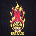 HELLBOUND COLORED CLOTH 45 IN WALL BANNER  (Sold by the piece) -* CLOSEOUT ONLY $ 2.50  EA