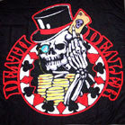 DEATH DEALER COLORED CLOTH 45 INCH WALL BANNER  (Sold by the piece) -* CLOSEOUT ONLY $ 2.50 EA