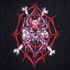 LARGE SPIDER SKULL IN WEB 45 INCH  WALL BANNER / FLAG (Sold by the piece) -* CLOSEOUT ONLY $ 2.95 EA