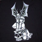 GARGOYLE ON SKULL WALL BANNER  (Sold by the piece)