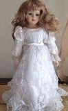16 INCH WEDDING DRESS PORCELAIN DOLL (Sold by the piece) CLOSEOUT $ 4.00 EACH