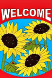 "WELCOME SUNFLOWERS  -- 28"" X 40"" GARDEN FLAG ( sold by the piece )"
