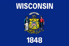 WISCONSIN STATE 3' X 5' FLAG (Sold by the piece) *- CLOSEOUT $ 2.95 EA