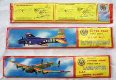 LARGE WORLD WAR II BOMBER GLIDER PLANE WITH MOVING PROPELLERS (sold by the dozen )