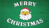 MERRY CHRISTMAS SANTA FACE 3' X 5' FLAG (Sold by the piece)